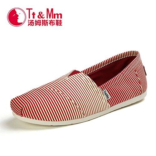 Tt&Mm 汤姆斯 男鞋春秋韩版懒人休闲鞋低帮套脚平底帆布鞋431110M