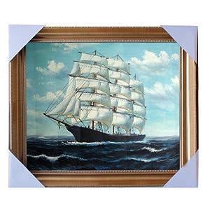 eapey 一品廊 手绘油画 海景油画 《扬帆起航》