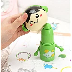 淘乐士 创意卡通可爱摆手公仔迷你风扇便携电池小风扇