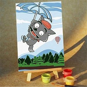 我的未来不是梦 10*15儿童diy数字油画 diy油画 天空之旅 装饰画