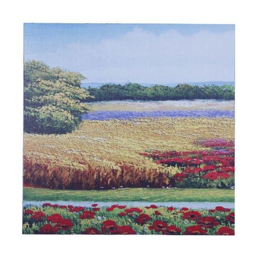 新视觉 抽象画 写意无框画 装饰画 工艺画 《田园风景系列1》50*50cm