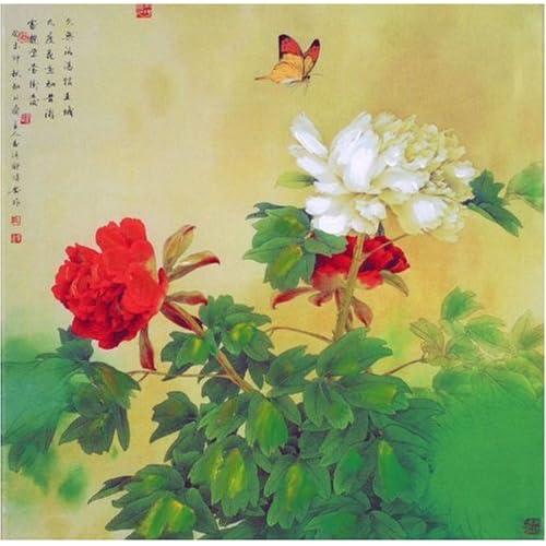 无框仿真油画 中国工笔画系列之国色天香 JD13001 40 40cm图片
