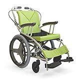 日本河村 AY18-40 爱之勇气一车三用轮椅 (座宽 40, 绿色)-图片