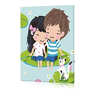 佳彩天颜 diy数字油画手绘画 儿童房间卡通 卧室装饰画 浪漫一夏 其他