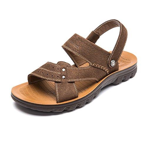 MULINSEN 木林森 男凉鞋2015夏季新款男士牛皮凉鞋正品真皮沙滩鞋透气防滑