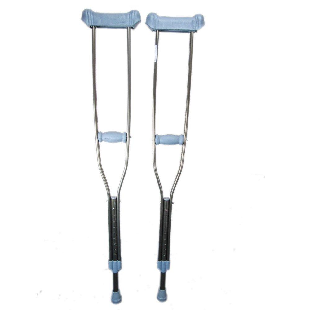 浩正 异形加强腋下双拐一对装 老人拐杖 残疾人用品 铝全金拐杖