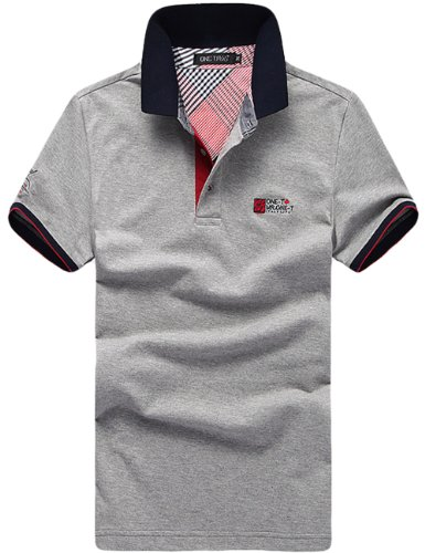 Joew-ZLi 男士纯色短袖polo衫棉男式休闲短袖翻领T恤POLO衫 T-5621