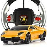 【网上城】振成 方向盘遥控汽车 兰博基尼 重力感应漂移跑车 充电遥控车玩具 橙色-图片