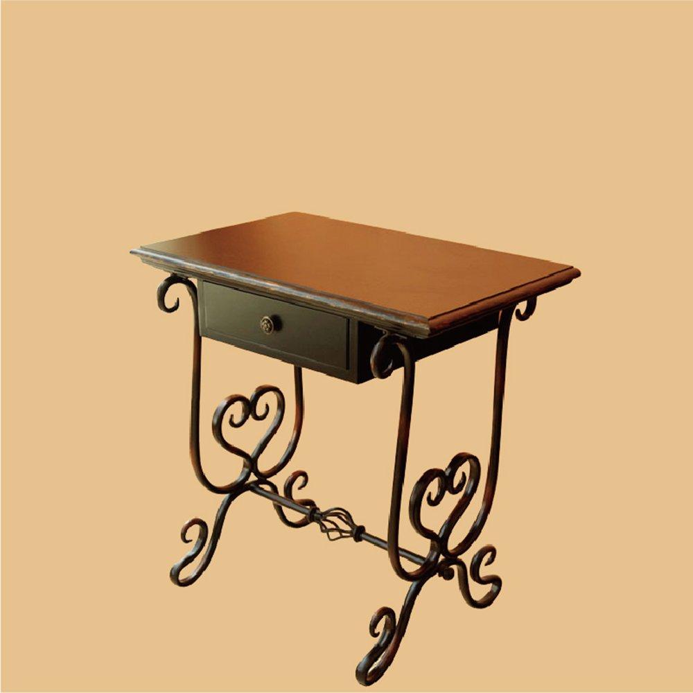 鱼西美屋 欧式铁艺古典边柜边桌玄关桌床头柜门厅桌