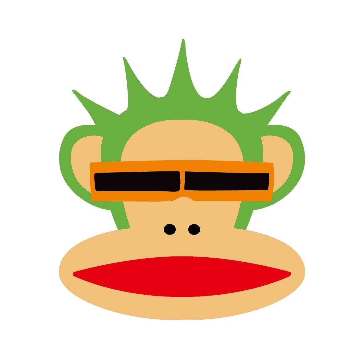 ky 卡艺 汽车贴纸 大嘴猴paulfrank 大嘴猴 头像 表情 搞笑可爱卡通图片