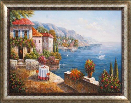 喜欧高档古典有框画 欧式客厅装饰挂画仿真油画地中海