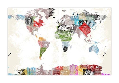 原版进口装饰画 世界地图