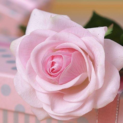 仿真保湿手感玫瑰花单支 装饰花卉艺术插花 保湿情人玫瑰浅粉色