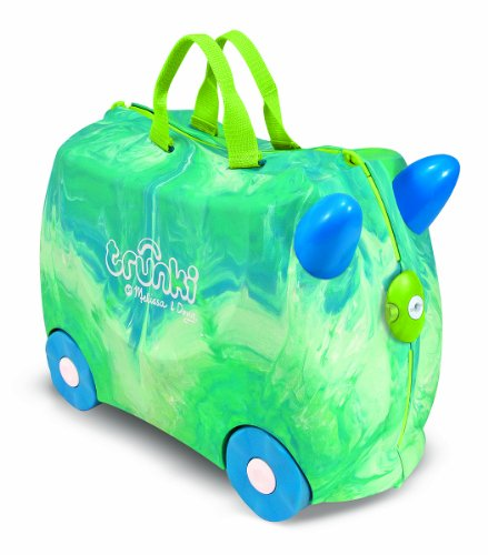 亚马逊海外购入手Trunki 可骑乘儿童行李箱