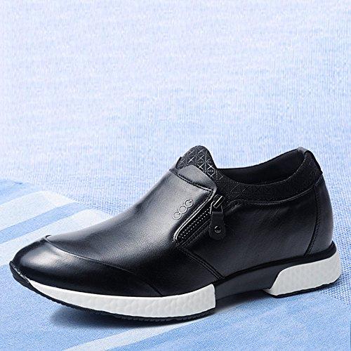 Gog 高哥 内增高男鞋男士增高鞋男式6厘米6cm时尚休闲皮鞋套脚懒人鞋