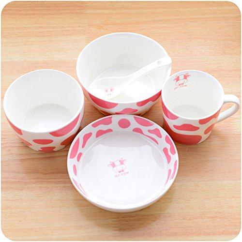 叮当kt创意精美骨瓷餐具 可爱陶瓷饭碗盘子碟杯勺套装