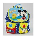 真彩迪士尼米奇米妮幼儿园小班双肩书包 可爱卡通书包零食包 M626033 粉蓝 (蓝色)-图片