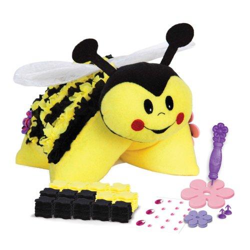 the orb factory 玩具堡 布布劳作可爱蜜蜂毛绒抱枕 儿童手工diy玩具
