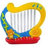 【网上城】梦幻灯光魔法竖琴 魔幻触控儿童音乐电子琴八音弹奏乐器玩具 蓝款-图片