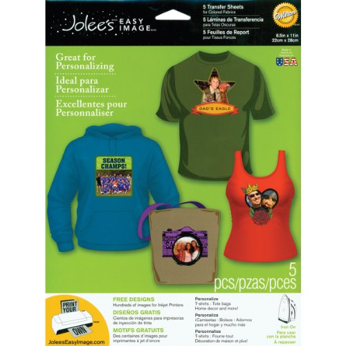Jolee's Boutique Easy Image Iron-on Transfer Paper, Colored Fabrics