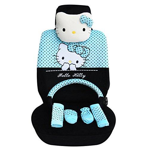 欧利莱 卡通litty猫毛绒坐垫套适用于标致307/207/206