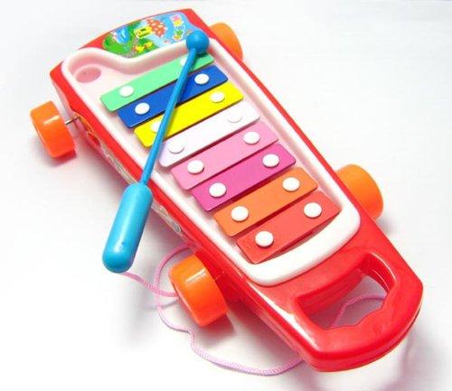 HABIBI 彩色八音琴拖车 拉线敲琴 敲击琴 带学步功能-图片