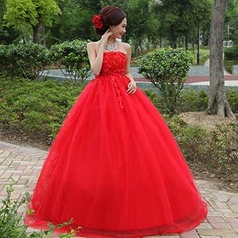孕妇红色婚纱 韩版