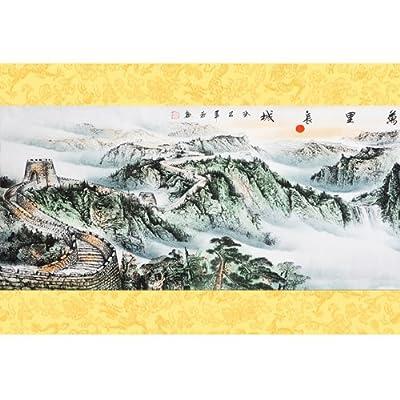 墨香阁 万里长城 半手绘 招财 风水画 四尺 gh400125