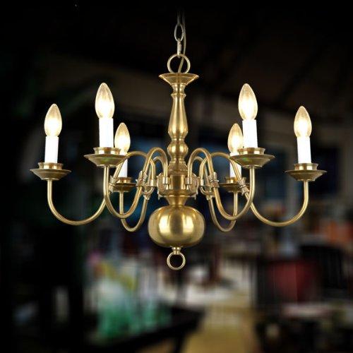 全铜吊灯欧式风格灯饰灯具 客厅灯弯管蜡烛铜灯701-06图片