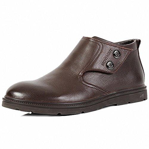 Montagut 梦特娇 正品男鞋 2013冬款皮鞋加绒棉鞋加毛保暖休闲高帮Q24489455
