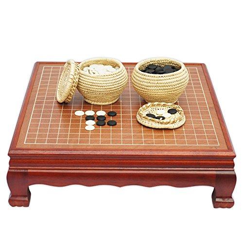 御圣-围棋-云子棋子-草萝棋罐-红胡桃木棋桌-608