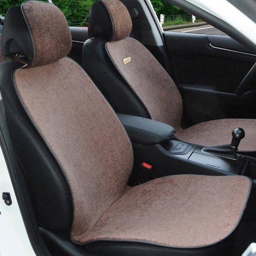 森踏 防滑免绑带汽车座垫 汽车椅垫 坐垫 四季垫 车型全 棕色