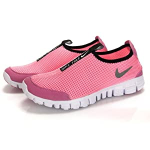 0软跑鞋一脚蹬懒人鞋 透气网鞋男鞋女鞋休闲运动跑步