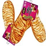 步益郎 (虎纹精仿羊绒 舒适保暖型鞋垫)/双x2双 除臭 保暖 抗菌 吸汗看不见的优秀品质 可以感受的暖暖温情 一份体贴 十分呵护 让你爱上这个冬天 (36)-图片