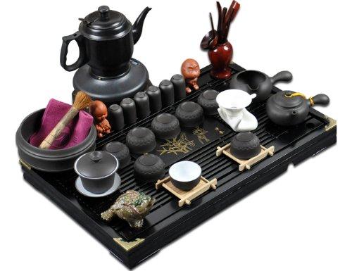 回至 肖字和德 紫砂茶具套装 电丝炉套装 实木茶盘 2013新套装 整套