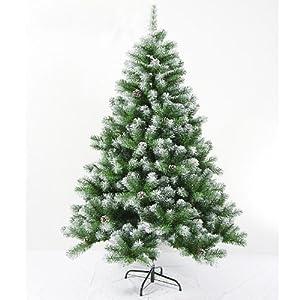 ti 柔蓝若婷 1.8米高档加密圣诞树 喷雪圣诞树带松果 圣诞树装饰品