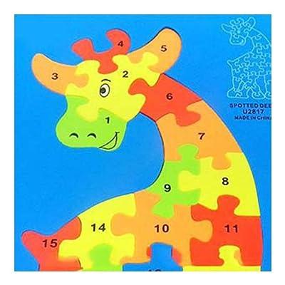 动物拼图玩具 长颈鹿立体拼图 儿童拼图 拼图地垫泡沫