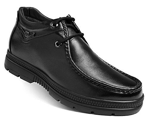 高哥增高鞋81477冬季男士内增高6.5cm休闲舒适保暖加绒毛棉皮鞋