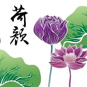 秋田映画 三联花卉荷莲藕荷颜悦色客厅卧室现代装饰无