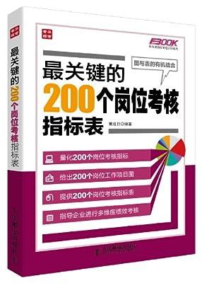 最关键的200个岗位考核指标表.pdf