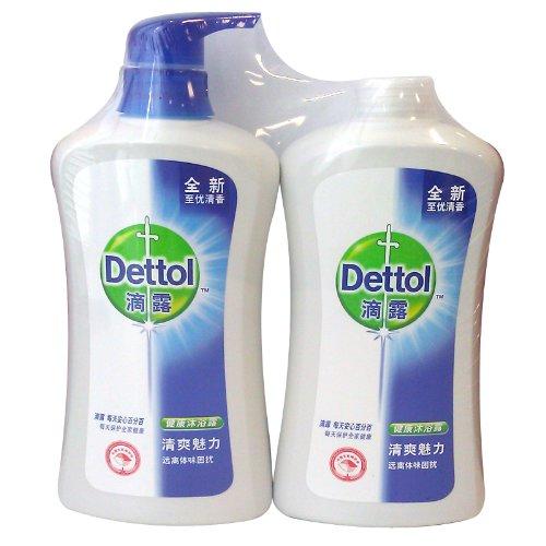 Dettol 滴露中国 沐浴露 清爽魅力650g+650g(两瓶装)  34.9元(购买2套减10 低至29.9元/套)