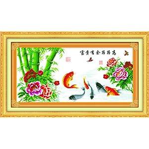 10038富贵有余节节高 华庭丽娜高级数码印布十字绣