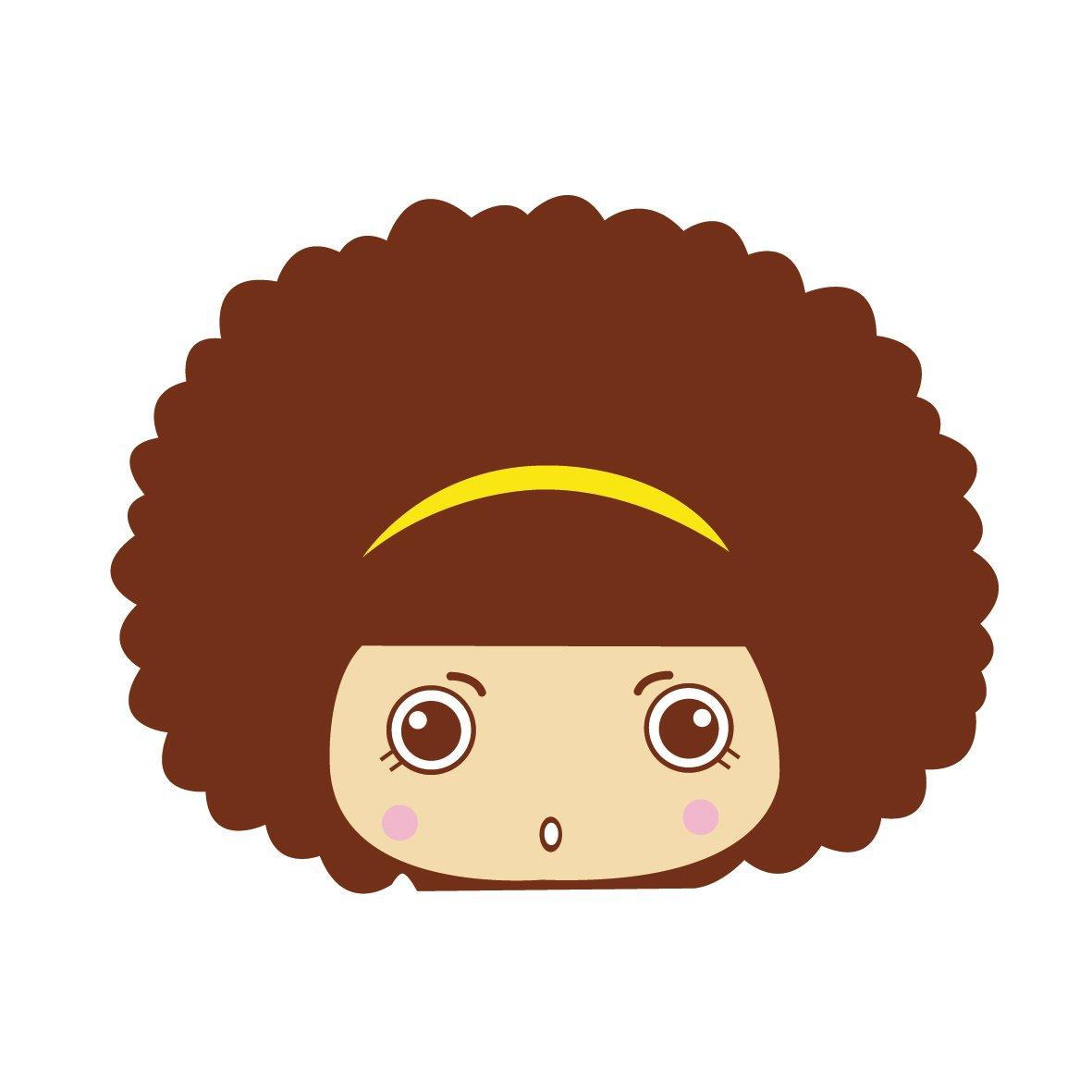 ky 卡艺 汽车贴纸 mocmoc 摩丝娃娃黄色发卡惊呆 汽车划痕贴 搞笑可爱