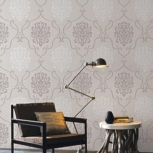 爱朵 硅藻泥去除甲醛墙纸 欧式奢华大马士革会花卧室客厅壁纸 fx66-2