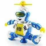 拇指奇特  热舞挑战王 机器人玩具 跳舞机器人 灯光旋转发光音乐  发声玩具 儿童玩具 玩具 机器人 红蓝两色随机发送-图片
