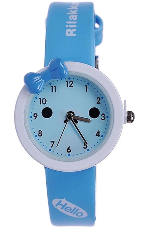 kezzi 珂紫 学生手表卡通儿童手表可爱蝴蝶结石英防水