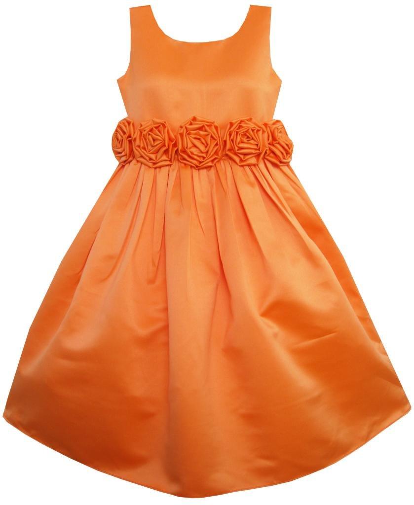阳光宝贝 童装 手工制作 腰间花朵 女孩 连衣裙 演出服 婚宴服饰 礼服