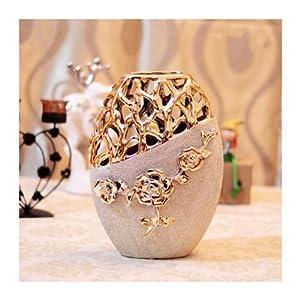 高档欧式花瓶陶瓷花瓶摆件现代装饰婚庆礼品