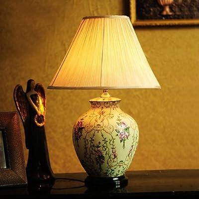 高档欧式台灯奢华卧室床头灯创意手绘