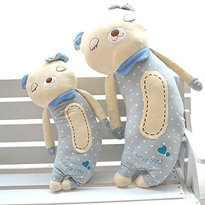 kcrius科锐思 可爱弯弯熊公仔人体睡觉抱枕 情侣娃娃靠垫 毛绒玩具
